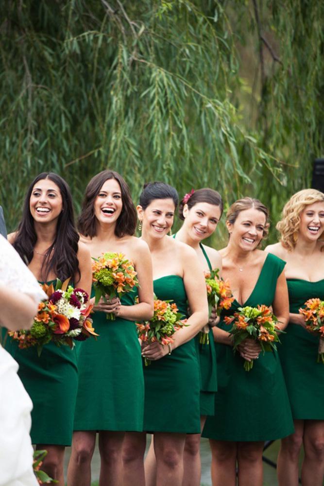 rustic bridesmaid dresses green short country