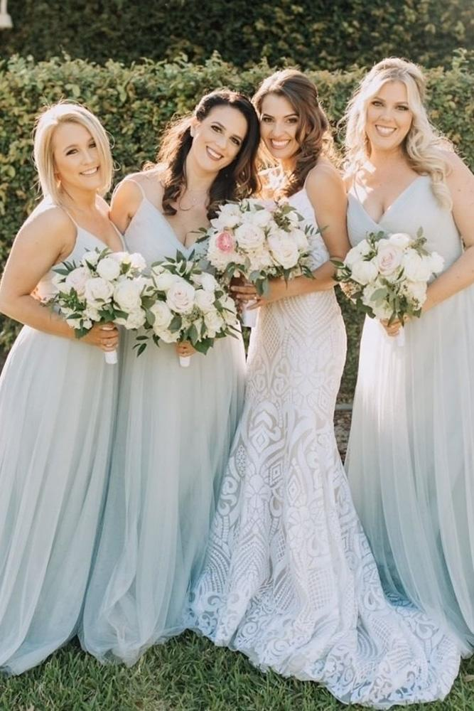 rustic bridesmaid dresses long withspaghetti straps neutral jenny yoony