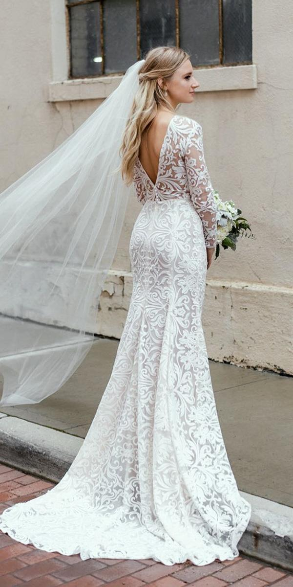 24 Romantic Bridal Gowns Perfect For Any Love Story ... Lace Romantic Vintage Wedding Dresses With Sleeves