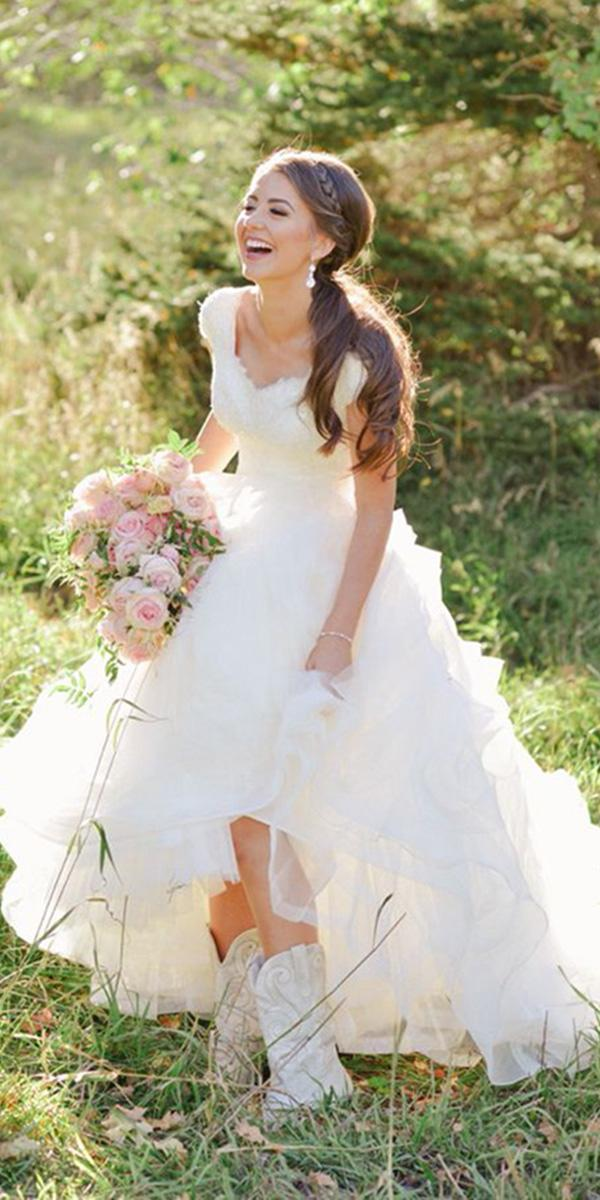 how to choose a wedding dress country with white boots utah photography
