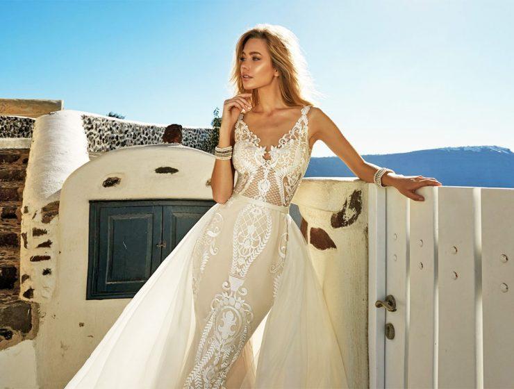 ivory lace wedding dresses by eva lendel