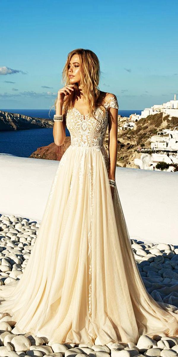 ivory sweetheart lace wedding dresses by eva lendel