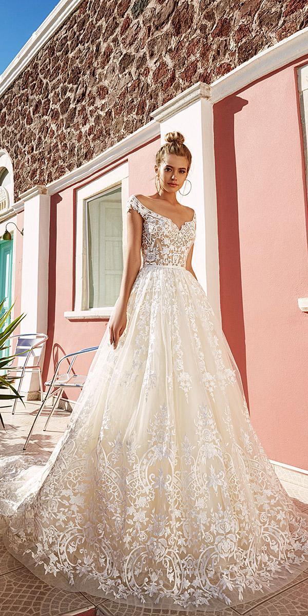 off the shoulder lace ball gown eva lendel wedding dresses 2017 bridal collection