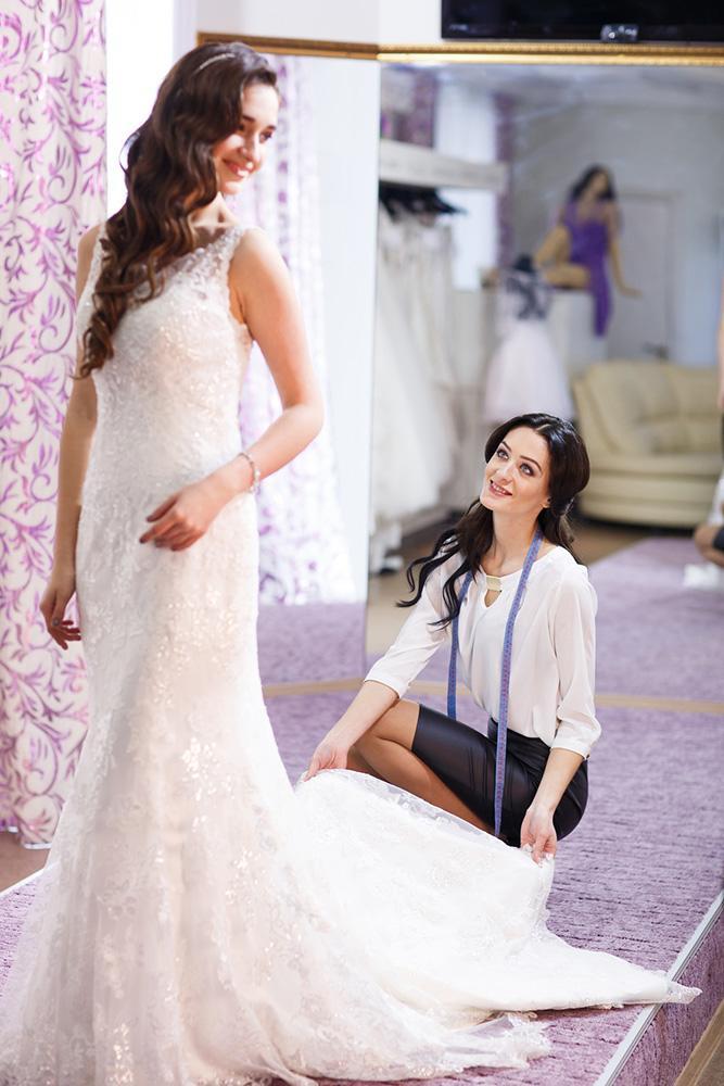wedding dress length bridal lace