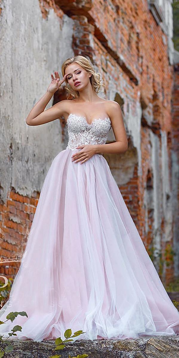wedding gown styles a line sweetheart lace blush skirt espana