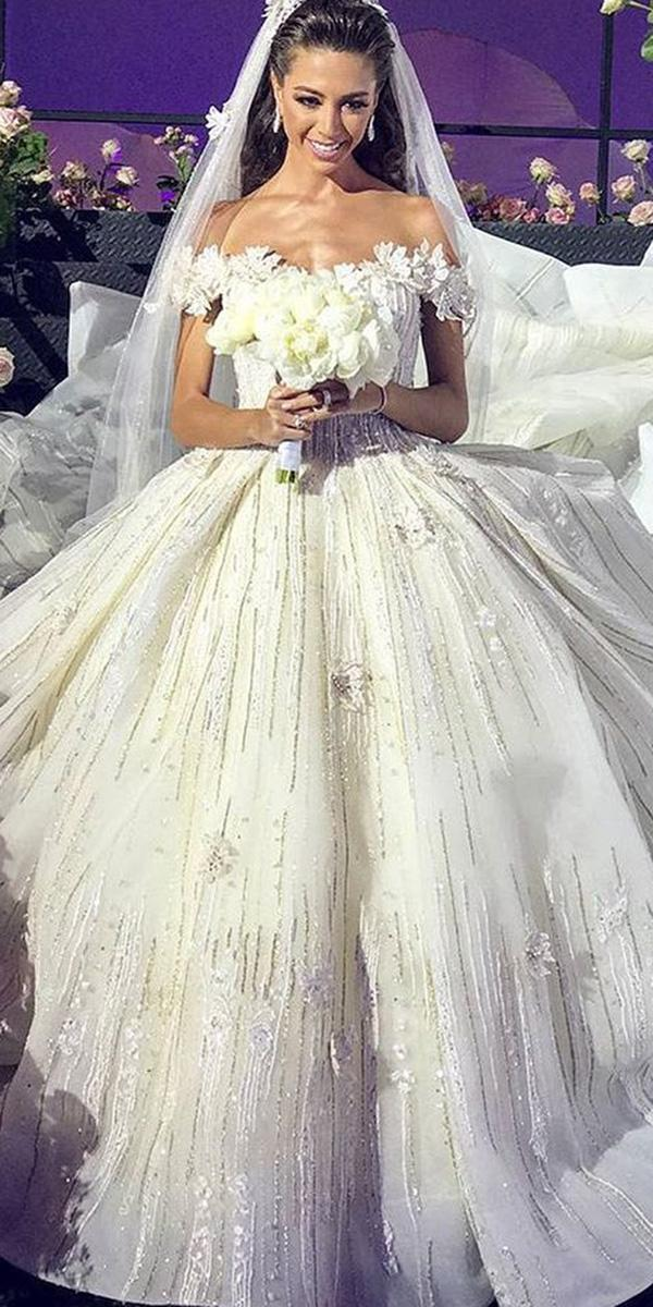 wedding gown styles ball gown off the shoulder ziad nakad