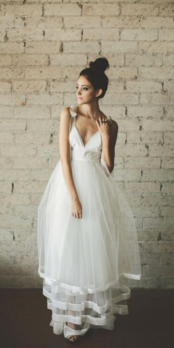 wedding gown styles empire simple tulle skirt juliana cleo clementine