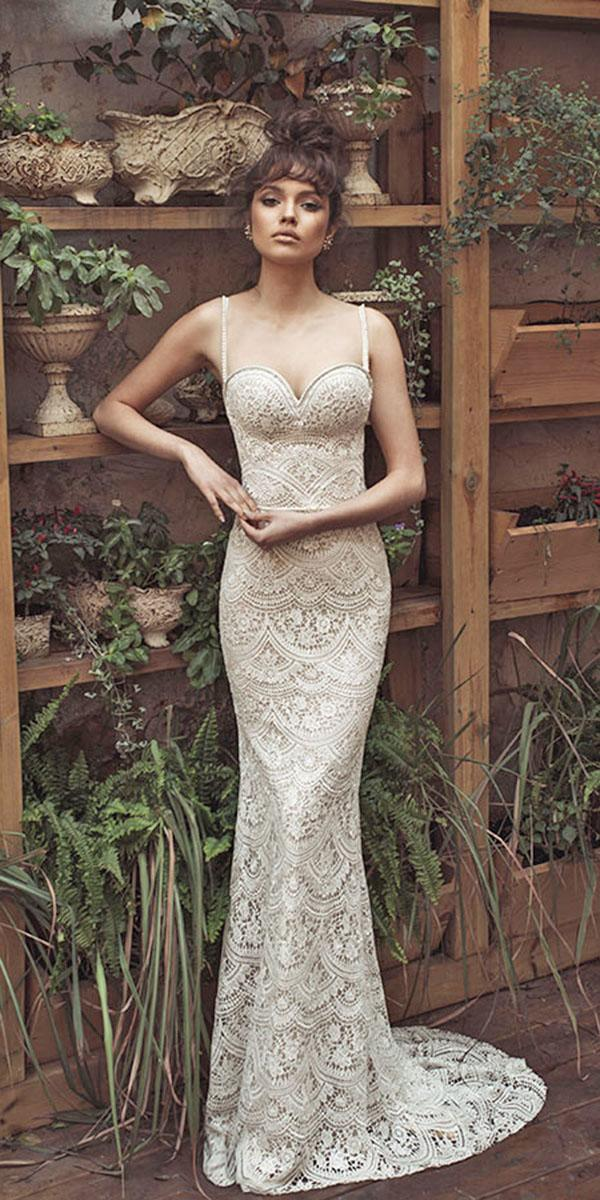 mermaid lace with sweetheart and train julie vino wedding dresses