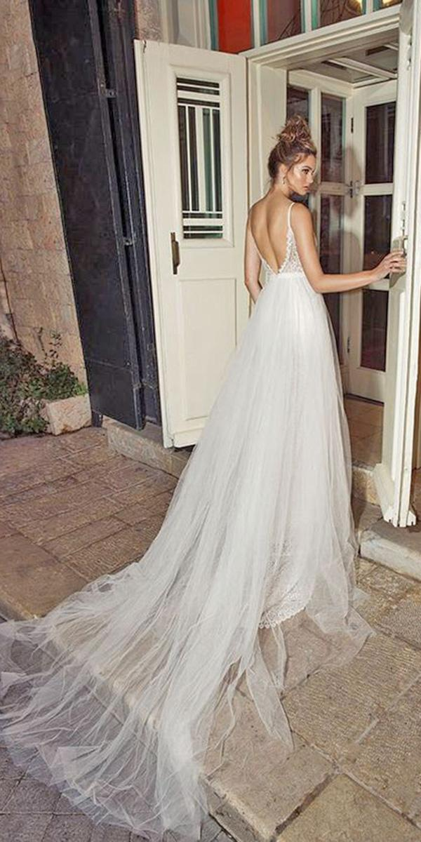 aline th backless and spaghetti strap and train julie vin wedding dresses