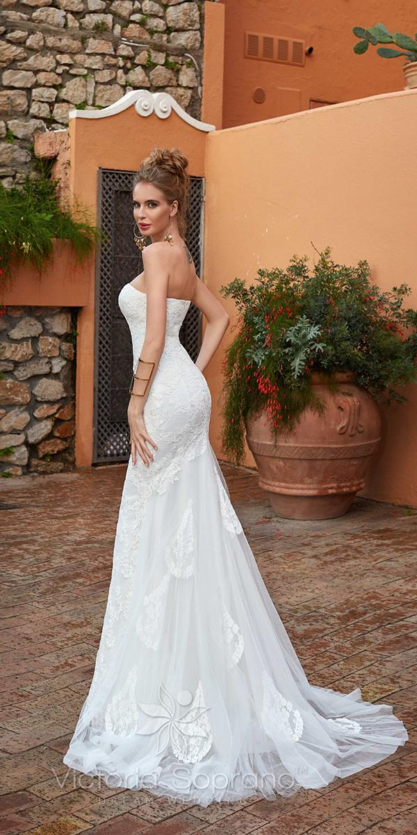 lace sheath strapless straight neckline victoria soprano wedding dresses