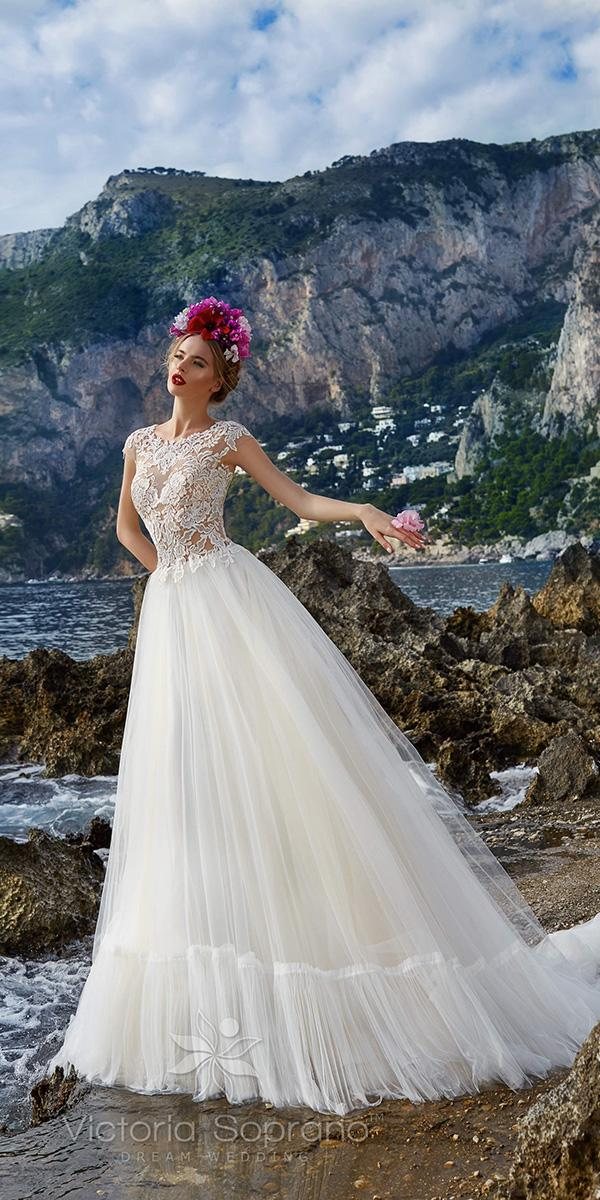 aline jewel tattoo effect neckline with train victoria soprano wedding dresses