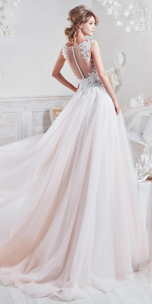Pink ball gown with tattoo effect and train nicole spose for Nicole spose wedding dress prices