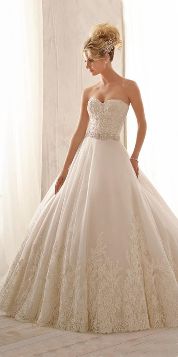 sweetheart aline with crystal belt mori lee wedding dresses