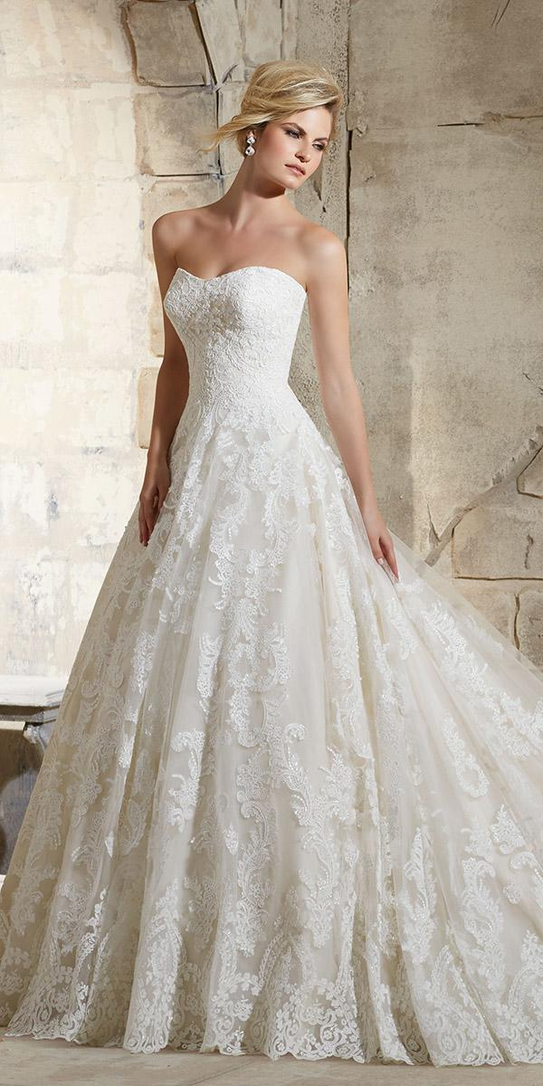 lace sweetheart aline mori lee wedding dresses