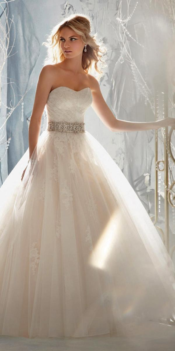 aline sweetheart with crystal belt mori lee wedding dresses