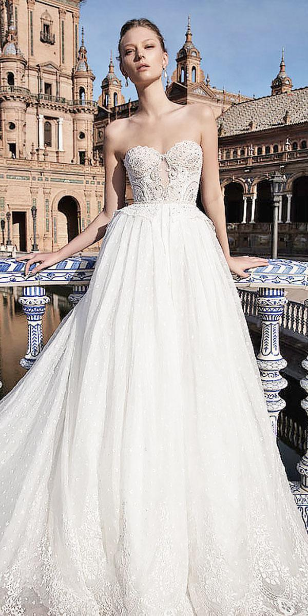 a line lace strapless sweetheart ivory wedding dresses alon livne