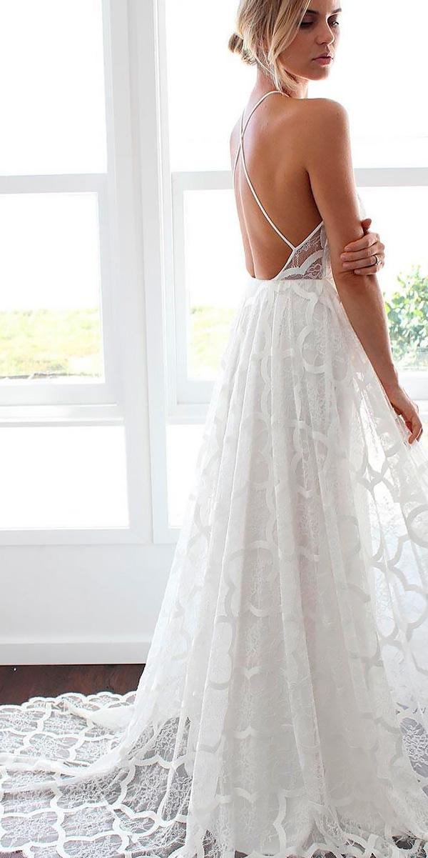 a line lace x cross open back wedding dresses beach style grace loves lace