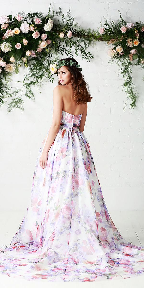 a line sweetheart open back floral wedding dresses charlotte balbier