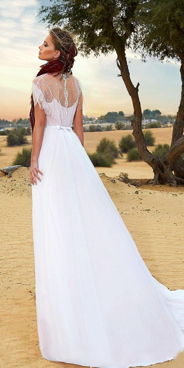 a line with cape sleeves and train armonia wedding dresses