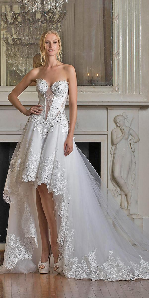aline asymetric skirt with sweetheart pnina tornai wedding dresses