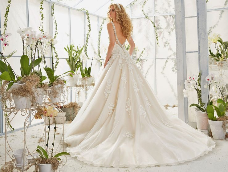 aline backless mori lee wedding dresses