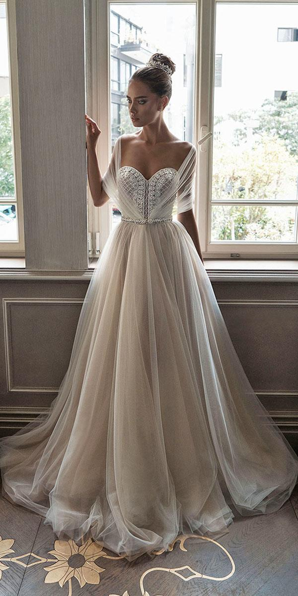 aline sweatheart with illusion sleeves elihav sasson wedding dresses