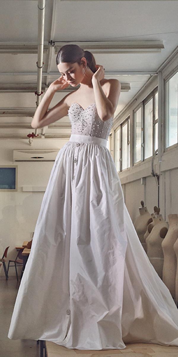 aline with sweetheart beading corset lihi hod wedding dresses
