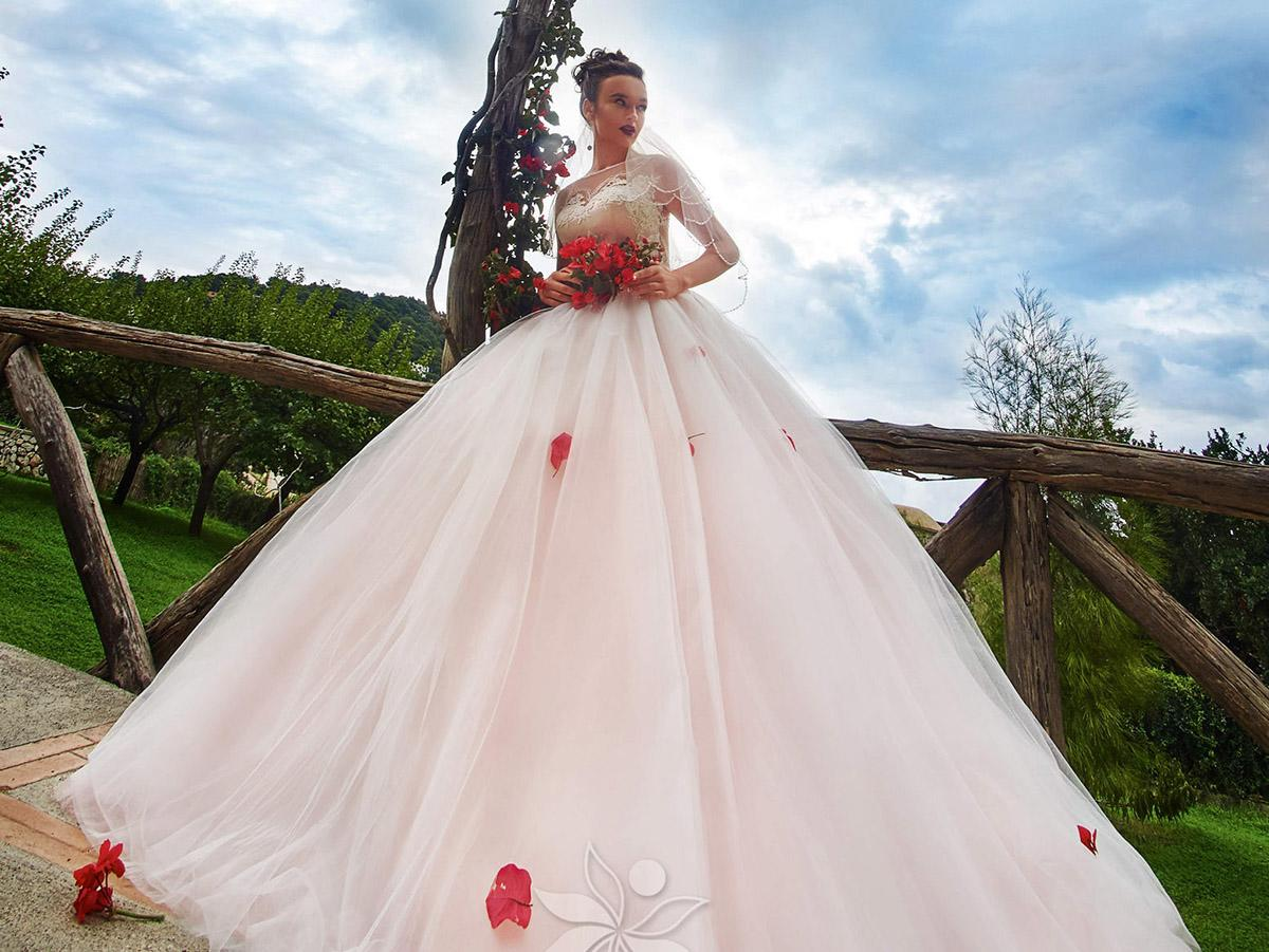 ball gown pink with sweetheart and short sleeves victoria soprano wedding dresses