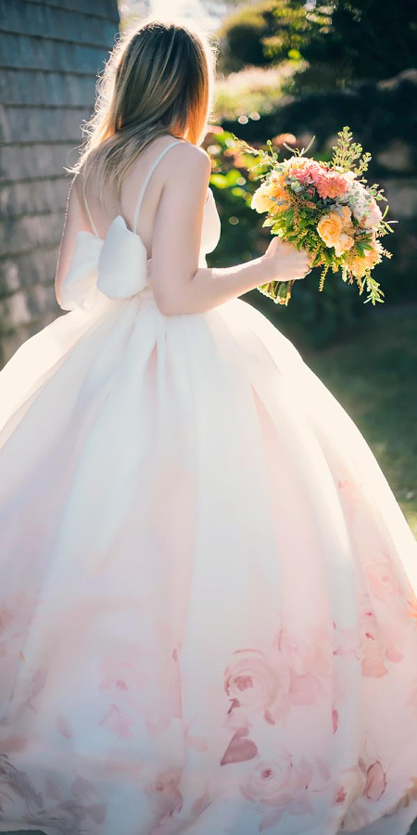 ballgown blush with bow floral wedding dresses katie slater