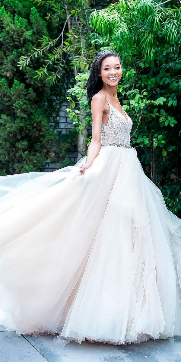 ball gown sweetheart neckline wedding dresses with straps lazaro