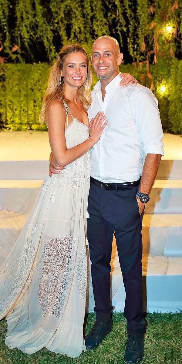 bar refaeli charming sheath spaghetti straps sweetheart celebrity wedding dresses chloe