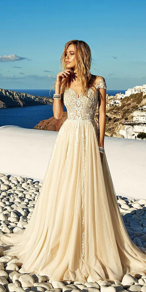 champagne a line strapless sweetheart ivory wedding dresses eva lendel