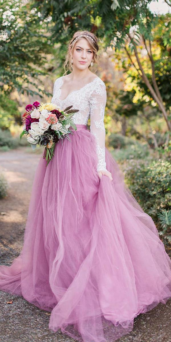 colored wedding dresses with long sleeeves lactop purple skirt sweet caroline styles