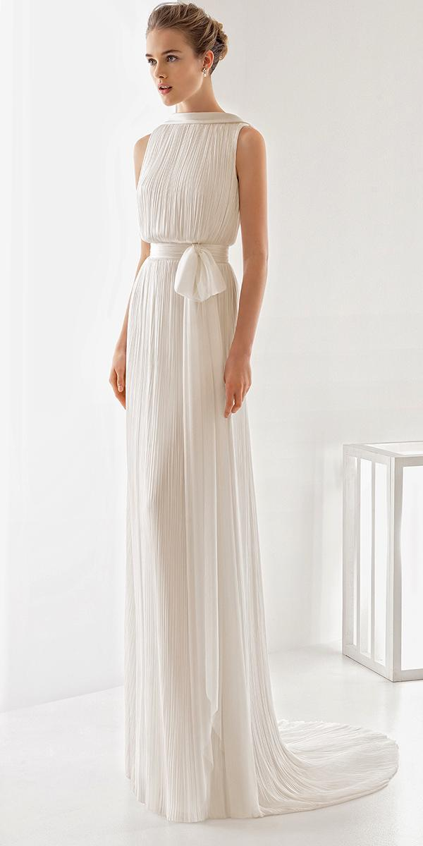 cute simple greece with belt rosa clara wedding dresses