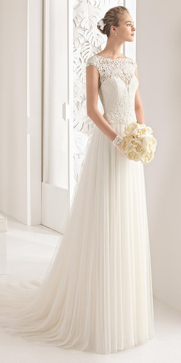 elegant empire with illusion and sweetheart rosa clara wedding dresses