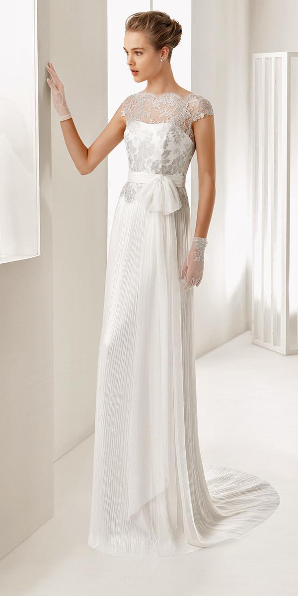 elegant empire with sort sleeves rosa clara wedding dresses