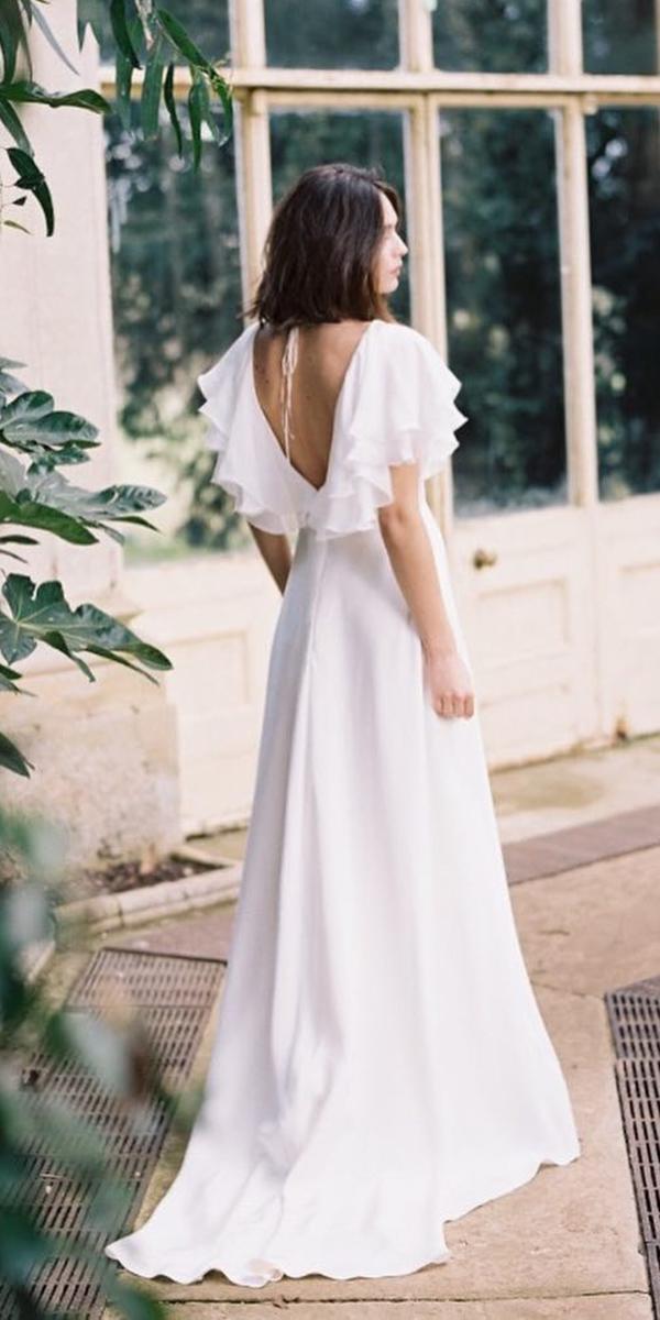 elegant wedding dresses a line v back simple cherry williams london