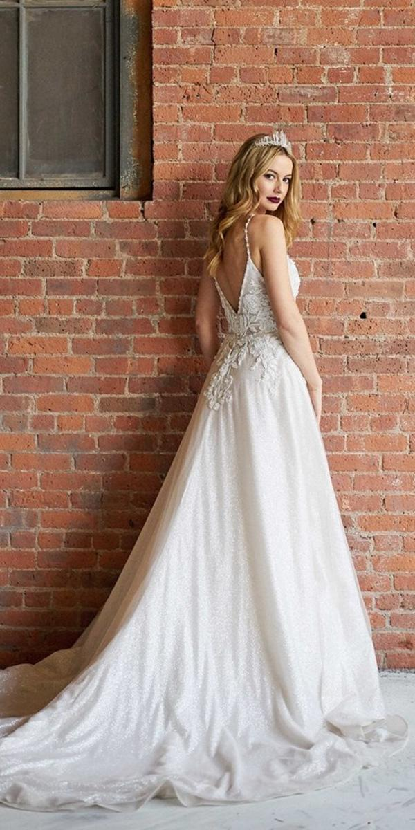 elegant wedding dresses a line with straps classy lace sottero and midgley