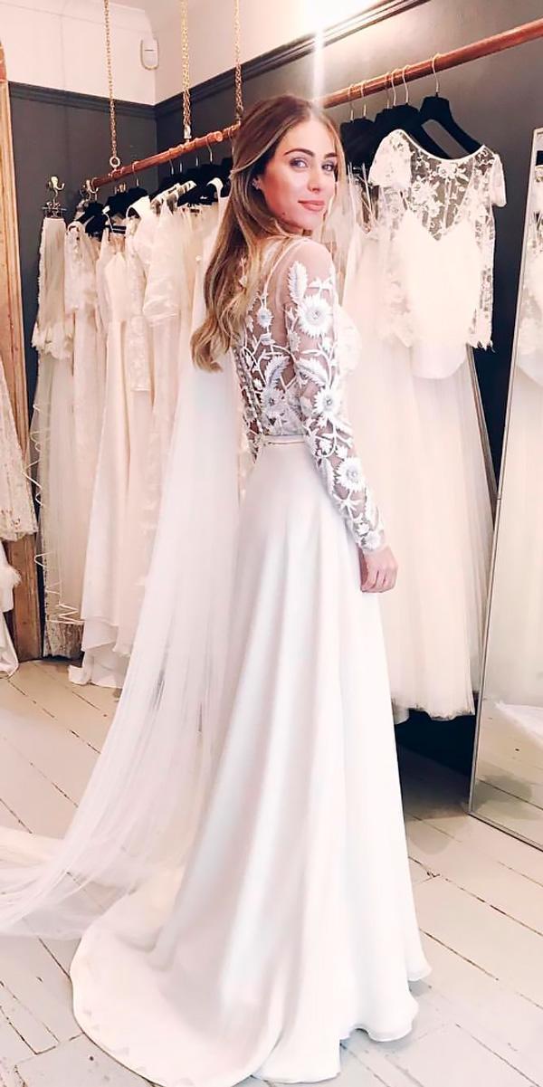 elegant wedding dresses vintage sheath lace with long sleeve kate halfpenny