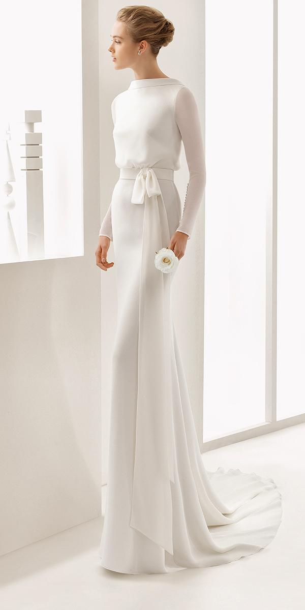 empire closed nackline with sleeves rosa clara wedding dresses
