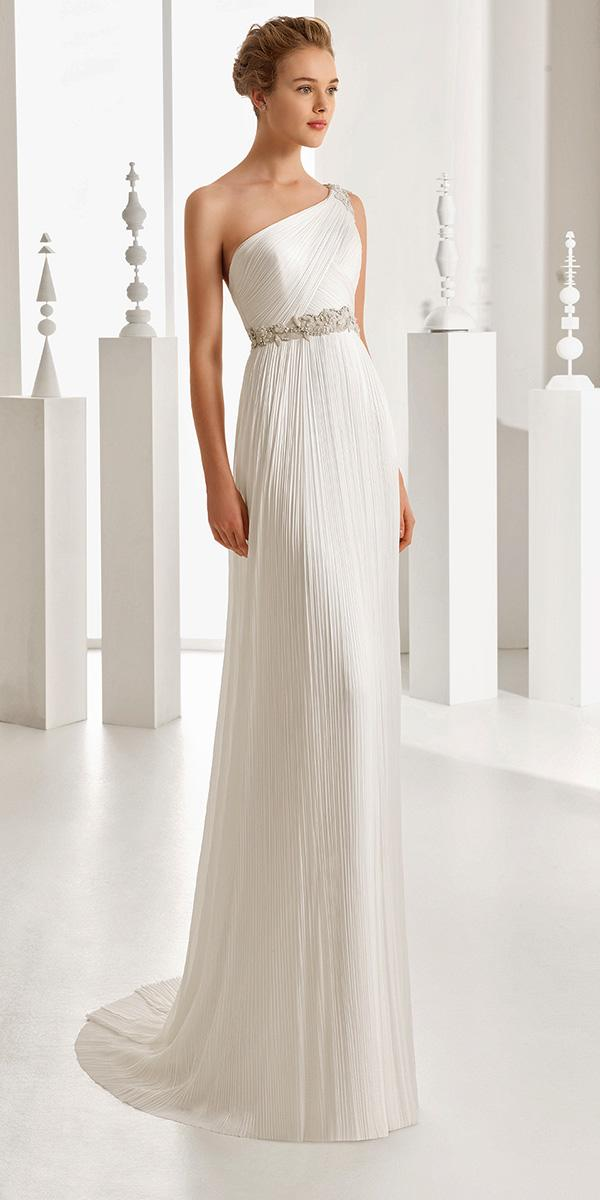 empire greece style with crystal belt rosa clara wedding dresses