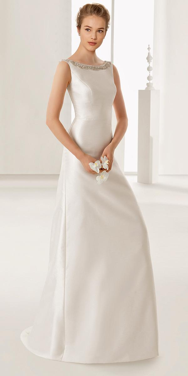 empire with cap sleeves and closed nackline rosa clara wedding dresses