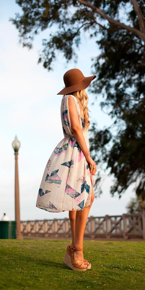 floral short beach wedding guest dresses with slit tynan daniels