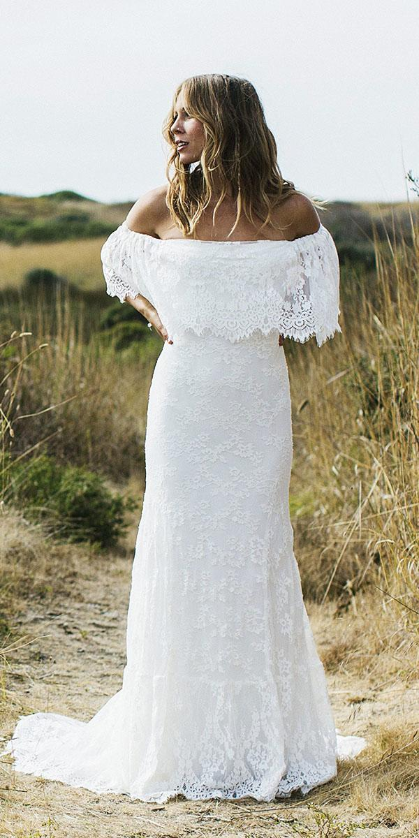 floral wedding dresses beach floral embellishment with short train daughters of simone