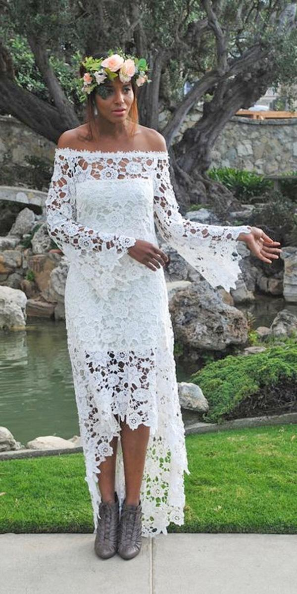 high low wedding-dresses-straight across rustic boho dreamers and lovers