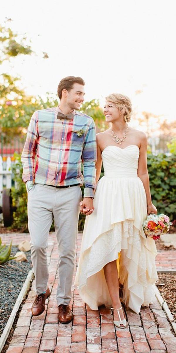 high low wedding dresses sweetheart simple rustic naama anat