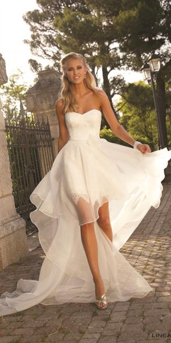 high low wedding dresses sweetheart with train linea raffaelli