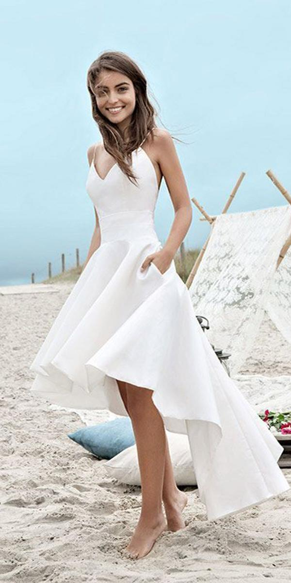 high low wedding dresses with spaghetti straps sweetheart fabienne alagama