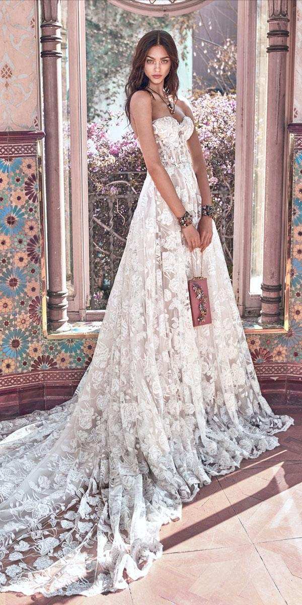 ivory lace ball gown sweetheart wedding dresses galia lahav