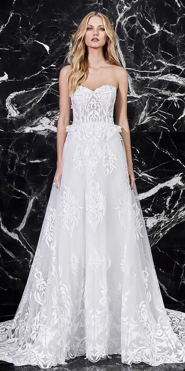 lace a line strapless sweetheart wedding dresses 2018 victoria kyriakides